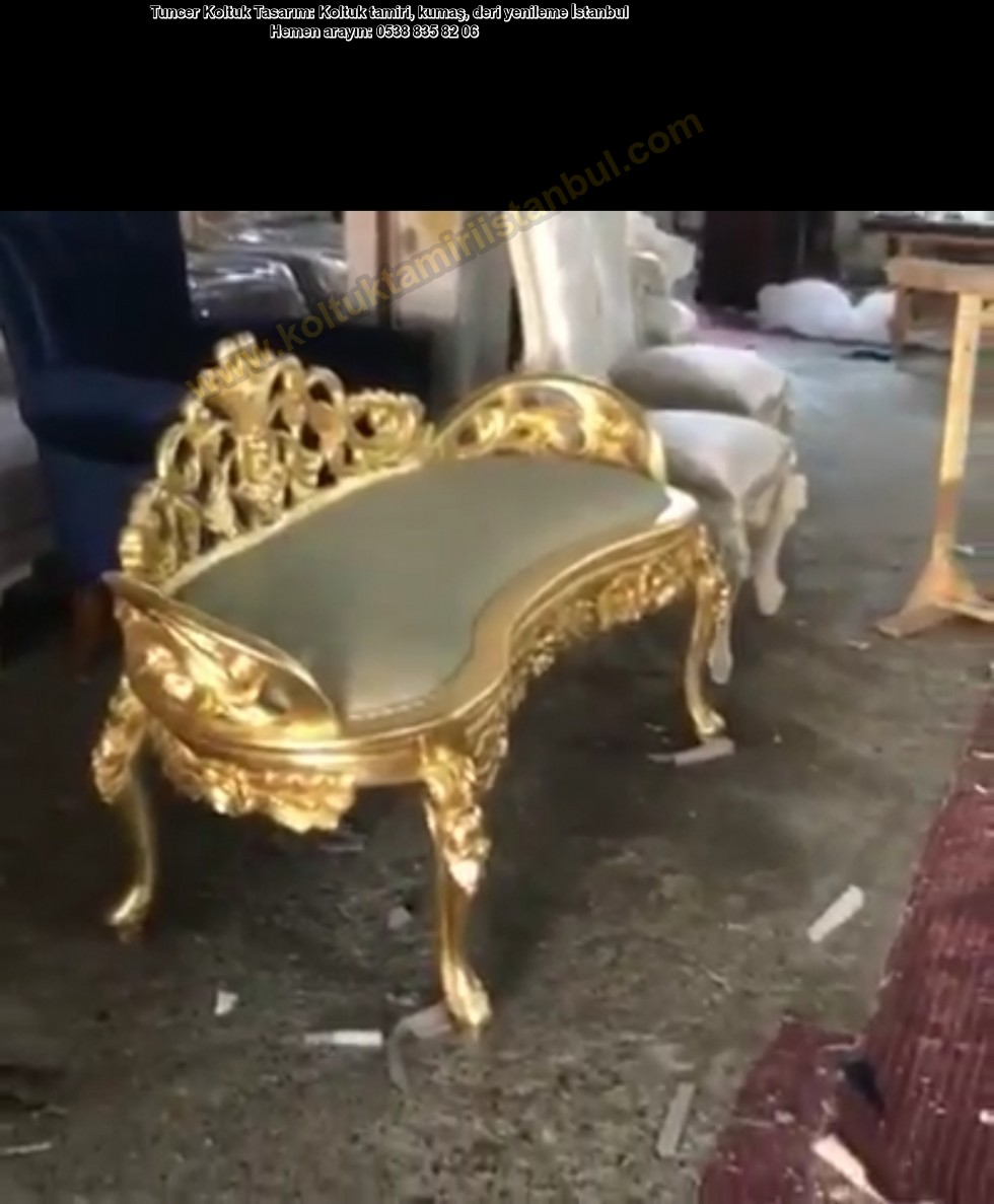 Altın Varak Bench Koltuk