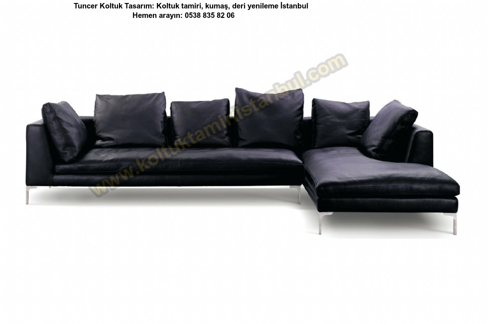 Brooklyn Down, Filled Leather Sofa