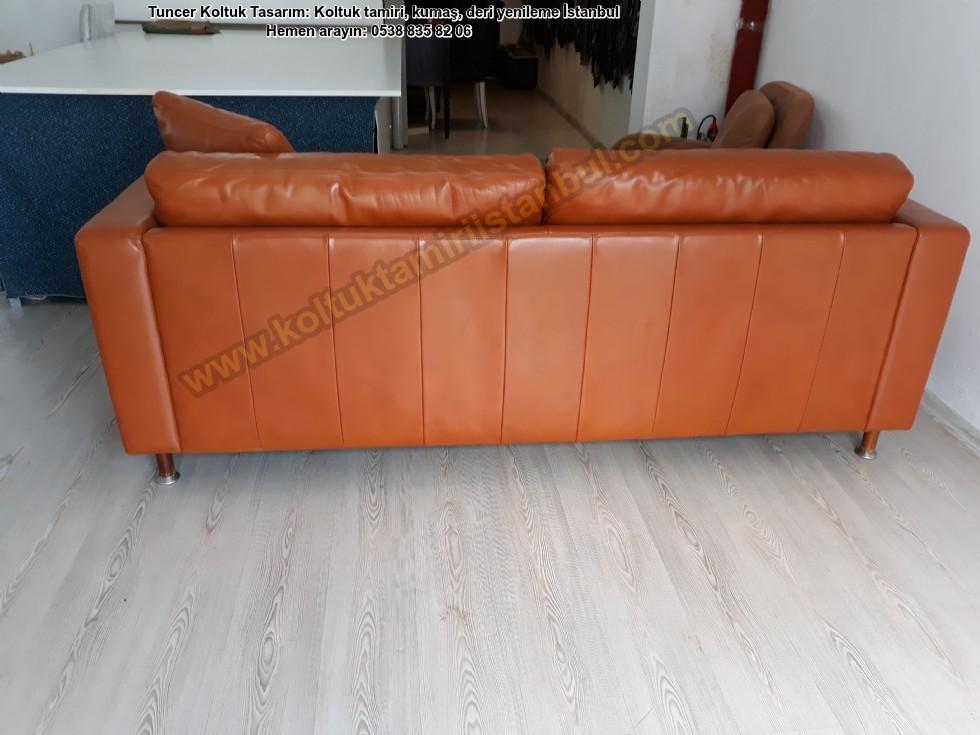 Modern Gerçek Deri Koltuk Boyama Hollanda Modeli