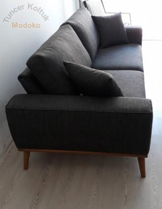 Yataklı Kanepe Modeli Modern Koltuk Yüksek Ayaklı Ataşehir Sibel Hanım